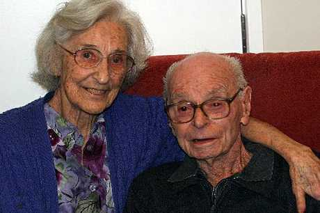 Bob Weston, with wife Hylda, celebrates his 100th birthday.