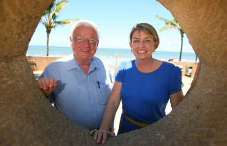 Premier Anna Bligh, with Member for Keppel Paul Hoolihan, at the Yeppoon foreshore site where she announced grant funding for the first phase of redevelopment. It was the first day of campaigning in the state election.