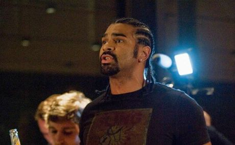 David Haye at the Klitschko - Chisora press conference.