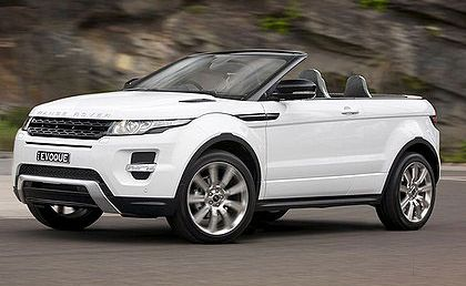 How the convertible Range Rover Evoque might look.
