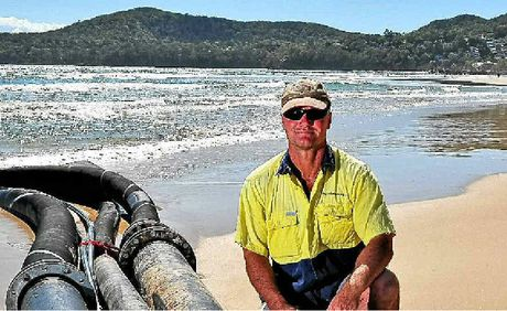 Slurry Marine Systems managing director Lex Nankervis says it's what goes on under the sand that makes the system work.