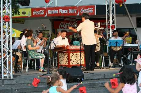 Chinese orchestral sounds provided an interlude before lanterns were released at the Chinese Lantern Festival.