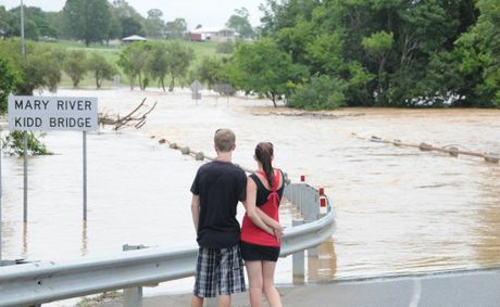Kidd bridge flooded Photo Renee Pilcher / The Gympie Times