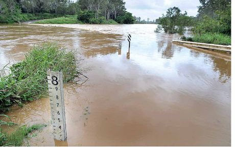 The Mary River bridge crossing at Tiaro went under in Feburary last year.