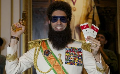 "Sacha Baron Cohen AKA The Dictator wants to meet ""Slippery Pete""."