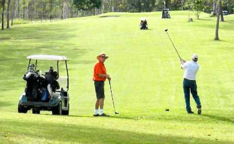 GOOD SHOT: Golfers enjoy the Miriam Vale golf course.