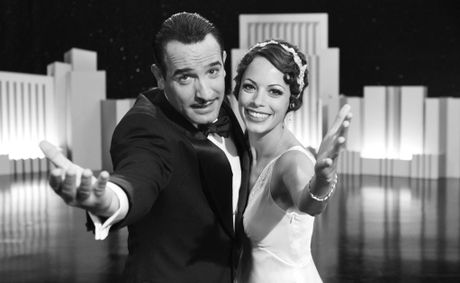 Jean Dujardin and Bérénice Bejo in a scene from the movie The Artist. The Artist won an Oscar for Best Picture, Best Actor (Jean Dujardin), Best Director (Michel Hazanavicius), Best Costume Design and Best Music (Original Score).