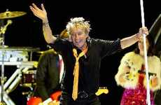 WEARING IT WELL: Rod Stewart had the generally well-behaved crowd of 25,000 rocking on well into the night. PHOTO/DUNCAN BROWN HBT120035-06