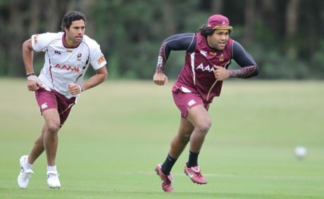 Dane Nielsen and Sam Thaiday.