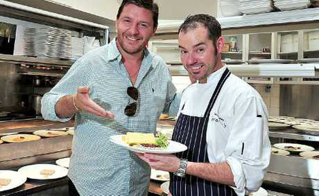 My Kitchen Rules judge Manu Feidel gives a tick of approval to dishes created by Berardo's executive chef Shane Bailey and his team.