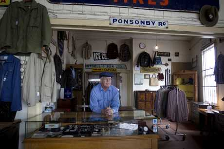 Lord Ponsonby Antiques is closing after owner David Brown died. Ross Smith (pictured) worked in the eclectic antiques store for years.