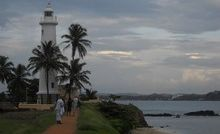 Galle's lighthouse and the Dutch ramparts.
