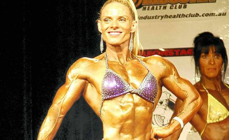 Former Bundaberg woman and body builder Jodie Howard won the Miss Universe Trained Class 2 Division championships in the UK recently.