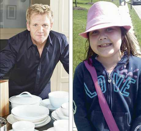 NO SHOW: Celebrity chef Gordon Ramsay came to Auckland for legal mediation talks after twice pulling out of a charity fundraiser for Napier girl Matisse Reid. GETTING BETTER: Matisse Reid and her family have been living in the US for five years now, and she is reportedly progressing well after her organ transplants. PHOTOS/SUPPLIED
