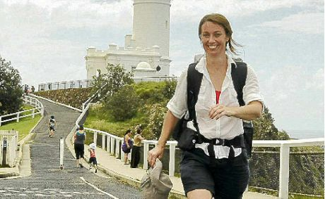 Kyogle girl Rachel Klyve is walking from Byron Bay light house to Sydney to raise money for research into Chronic Fatigue Syndrome. Doug Eaton