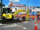 IPSWICH City Council suspects a piece of rotting timber may have caused a small sinkhole to develop in the CBD.