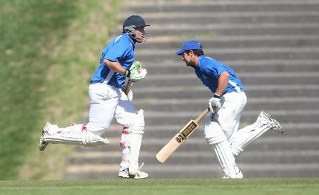 East Bay United batsman Alex Yates (right) will have to show this type of form if his team are to make it through to the Williams Cup semifinals next week. Photo / file