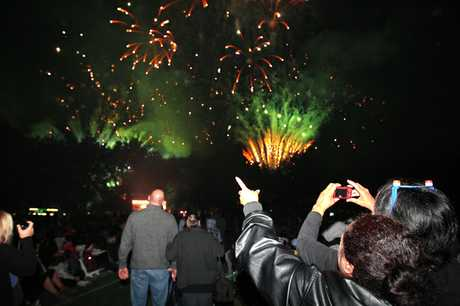 The fireworks display at last  year&#39;s Lakeside.
