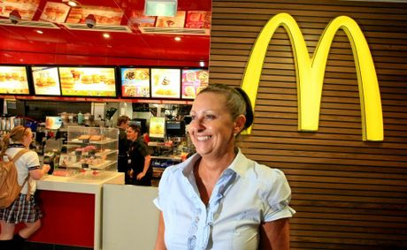 Michelle Orton-Dessaix in front of her McDonald's at Centro Tweed Shopping Centre.