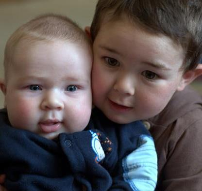Crash victims Danyon Lints, 8 months, and his big brother Aiden, 2.