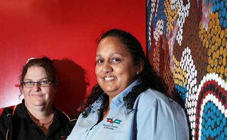 HELPING HAND: Karen Dawson-Sinclair and Pamela Fisher from the Ganyjuu Family Support Service at Woodridge.