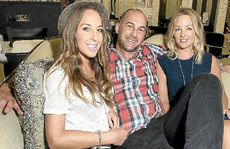 TOP HONOUR: Deanne Evans, Clay Burns and Chelsea Copping are in Melbourne for Fashion Week.