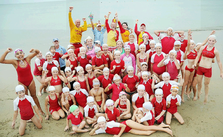 EXCITED: The members of Hervey Bay Surf Life Saving Club are thrilled the 2013 Queensland Junior Surf Lifesaving titles are coming to the Bay.