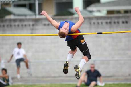 Bethlehem's Luke Davison took the high jump at the Bay of Plenty secondary schools athletics champs.