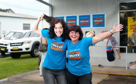 Eloise Lydford and Karen Barnes made more than $1500 simply by getting people to sponsor them to get their heads shaved.