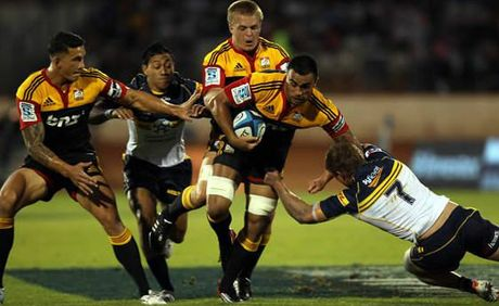 The Chiefs lead the 2012 Super Rugby competition with two rounds remaining.
