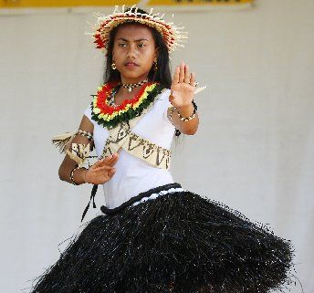 CULTURAL SHOW: Te Puke High School student Erena Moote, 12, of the Te Puke Kiribati community, was one of 300 performers who took to the stage at the Tauranga Multicultural Festival.