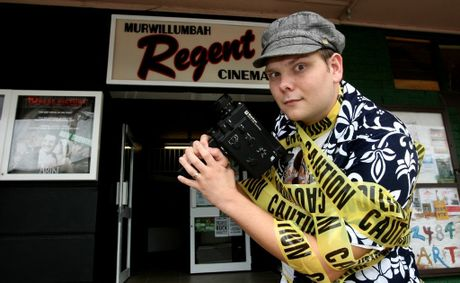 Lachlan Glasby is on the trail of the Regent Cinema in Murwillumbah's missing red couch.
