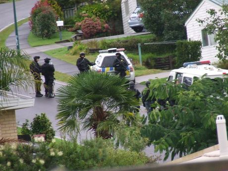 Suspected 'P' Lab bust in Tamworth Place, Gate Pa, Tauranga