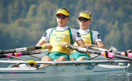 Australias Hannah Every-Hall and Alice McNamara compete in the lightweight womens double sculls final at the world championships last year.