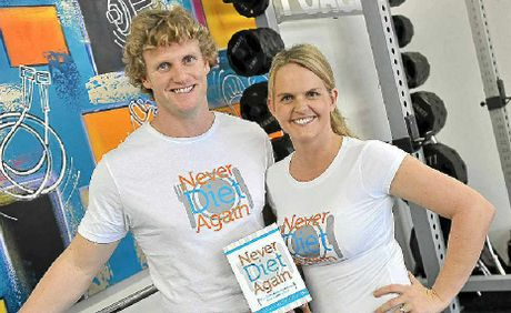 Julius and Sharny Kieser with their new book Never Diet Again.