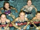 Warwick Swimming Club members (front, from left) Ella Hudson, Kelsey Hoger, Seamus Ryan, (back) Dimity Brackin and Michael Coleman will swim for Darling Downs at school championships.