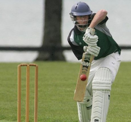 Cadets batsman Joe Carter shows great technique in defence.