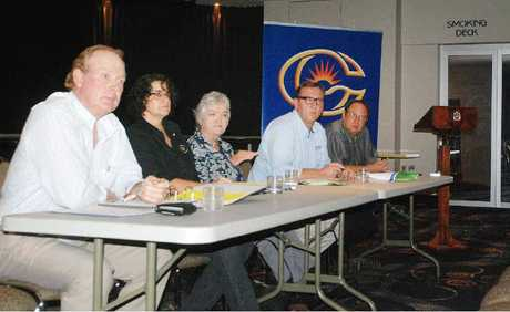 Candidates Shane Paulger, Kathy Hawke, Shena MacDonald and David Gibson put their views forward in the face of the seemingly inevitable, as chairman Kerren Smith keeps things moving