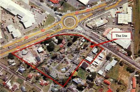 The proposed site for the Lynmore retail complex.