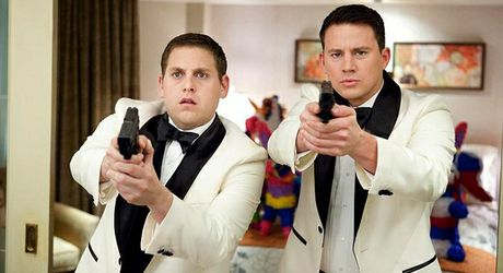 Jonah Hill (left) as Schmidt, and Channing Tatum, as Jenko in 21 Jump Street.