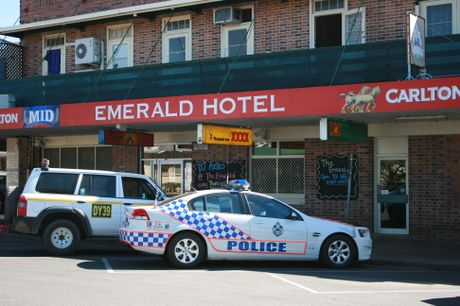 The Emerald Hotel was in lockdown following a stabbing Friday morning.