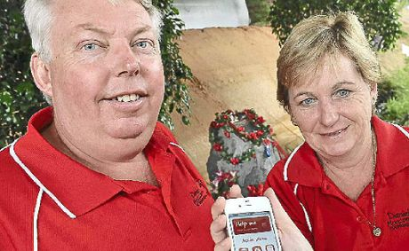 Bruce and Denise Morcombe with the new smartphone app designed to help people in trouble.