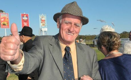 Trainer Trevor Hardy happy after his horse Symposium .won race Six on coffs Cup Day Photo: Trevor Veale / The Coffs Coast Advocate.
