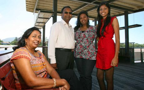 Ramola Christopher and Christopher Chelliah with their daughters Jennifer and Katherine Christopher will celebrate Harmony Day.