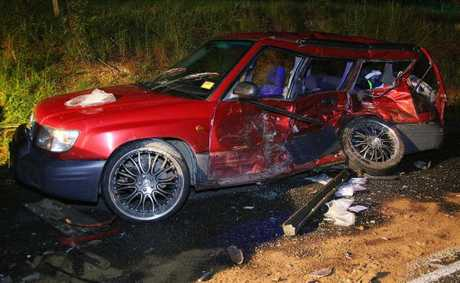Four people were hospitalized following a high speed head on crash that occurred just before 11pm on Short Cut Road