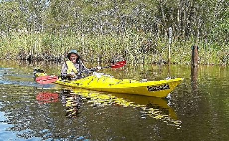 Bernhard Weitkuhn, 73, is paddling down the Murray River in his kayak for charity.
