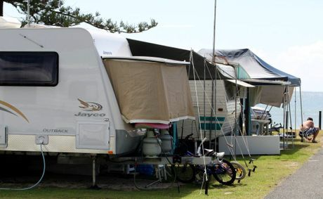 The caravans have already rolled in at Kingscliff caravan park, with no spots left in the shire this week.