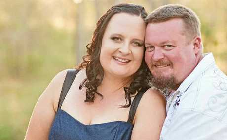 "Louise Simpson and Ross Braddock say ""I do""."