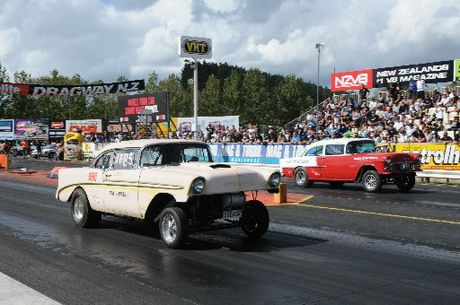 Classic Gassers are part of the Nostalgia Drags excitement.