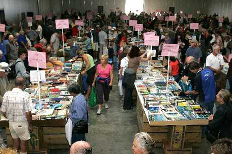 A queue of around 600 people waited for the doors to fling open at Tauranga Rotary Club's annual book sale.